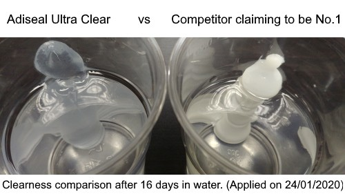 clear sealant in water comparison