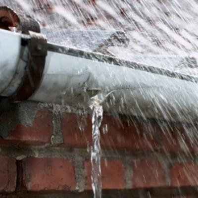 gutter leak