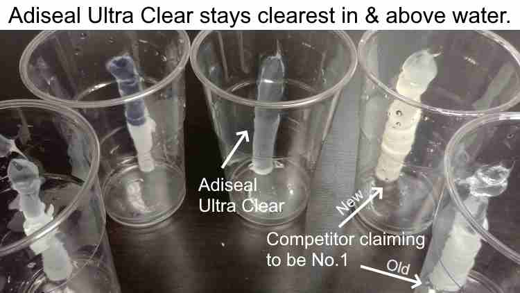 clear sealant test in water