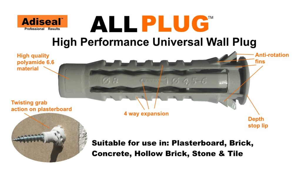 wall plug for plasterboard