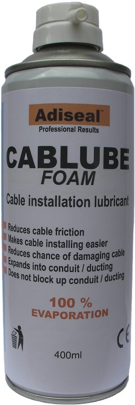 cable pulling lubricant foam